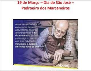 19 de Março – Dia de São José – Padroeiro dos Marceneiros